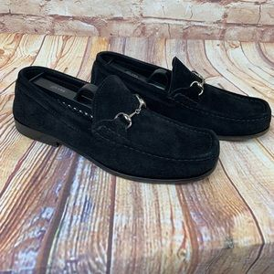Gucci Shoes - Gucci black suede loafers
